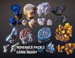 3D asset Minerals Pack 2