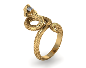 3D printable model snake jewelry