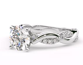 Petite Infinity Engagement Ring 3D printable model