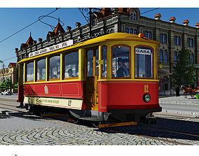 3D model SKODA retro tramway