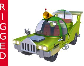 rigged Car Homer Simpson 3D Blender Rigged technology