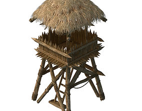tent Cottage Tribe - Watchtower 03 3D model