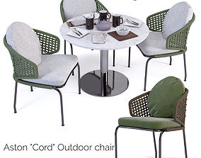 Aston Cord Outdoor chair and Bellagio Bistrot tabel 3D