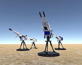 3D asset Battle Arctic Turret - Fantasy weapons for