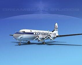 3D Douglas DC-4 Pan Am