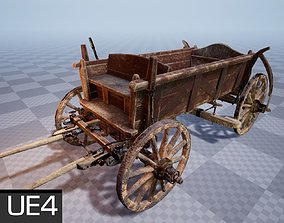 Horse Cart UE4 Ready 3D asset