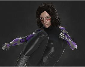 woman Alita Battle Angel 3D Model