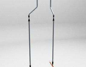 Ski lift rod 3D model