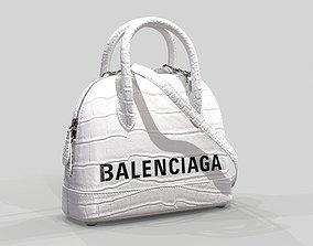 Balenciaga Ville Top Handle XXS Bag White 3D model