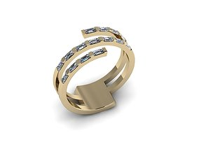 3D printable model luxury Diamond Jewelry Ring