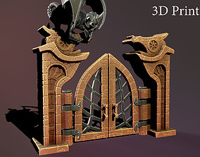 Fantasy door 3D print model