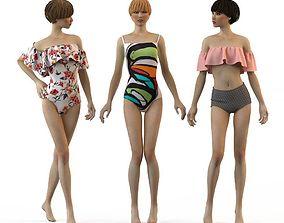 3D Swimwear 2018 Bikini Girls woman