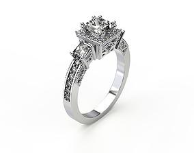 engagement luxury Engagement Ring 3D print model