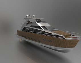 3D model wooden yacht