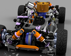 RC CAR CHASSIS KIT 3D printable model remote