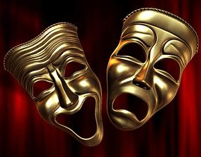 3D model Theatre Happy Sad Masks