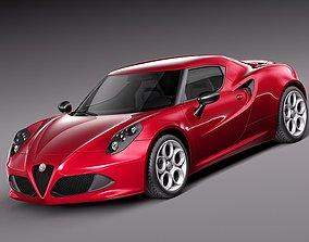 3D model Alfa Romeo 4c - 2014