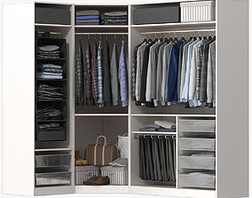 3D model Wardrobe with Clothes