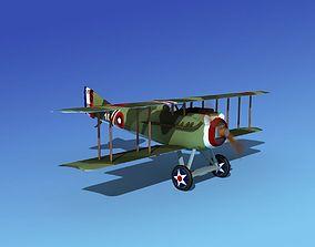 SPAD VII 3D animated airplane