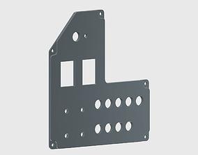 3D printable model Cessna 172 G1000 Master Switch Panel