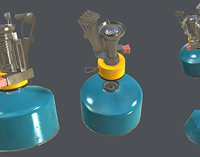 Realistic Portable Gas Stove 3D model