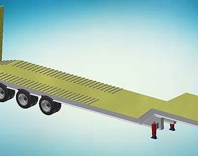 Low Bed Semi Trailer 3D print model