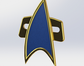 star trek picard badges Cosplay 3d model stl