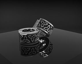 3D printable model Celtic earribgs