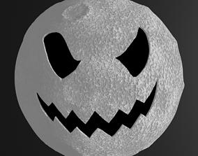 3D asset halloween moon