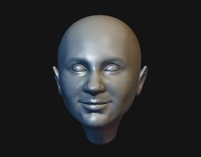Man head 13 Male head 3D print model