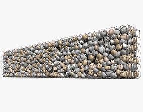 Gabion Baskets Wall 3D model