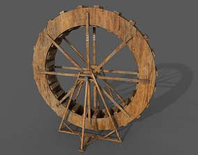 low-poly Water Wheel Low-poly 3D model