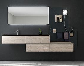 Bathroom furniture set Arcom Escape 3D