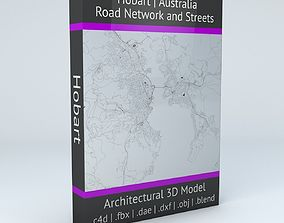 Hobart Road Network and Streets city 3D
