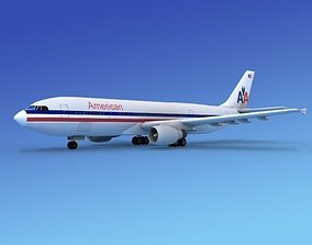 3D Airbus A300 American Airlines