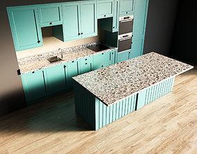 microwave 28-Kitchen4 matte 3 3D model