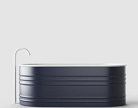 3D model Bathtub and Faucet 001
