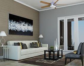 3D model High def Classic living Room 5