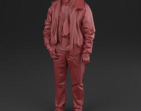 Men 02 pilot - Low Poly 3D model