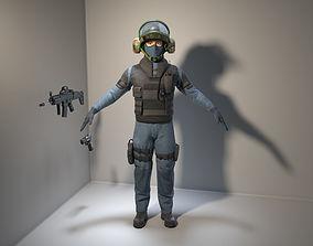 3D model Soldier-Policeman
