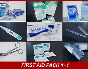 First Aid PBR Pack 1 Plus 1 Game Ready 3D model