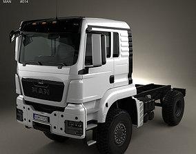 3D MAN TGS 4x4 L cab Tractor Truck 2007