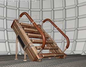 3D model Wood Stairs - Construction Element 8