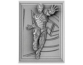 3D print model Iron man Bas-relief cnc
