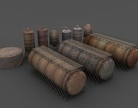 Rusty tanks 3D model