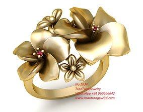 3D print model 1834 Gold Flower Ring
