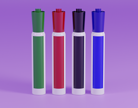 Generic White Board Markers 3D