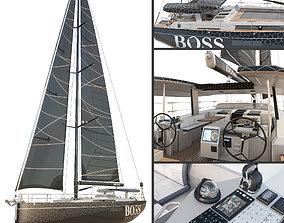3D Hanse 675 yacht BOSS