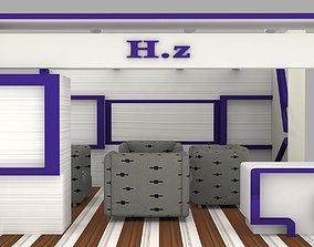 Exhibition Booth 3D model bazaar
