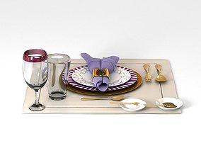 Dinnerware Table Set 3D